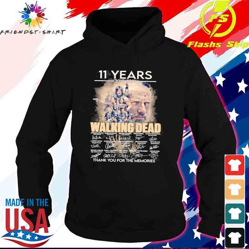 11 Years 2010 2021 the Walking Dead thank You for the memories signatures s hoodie