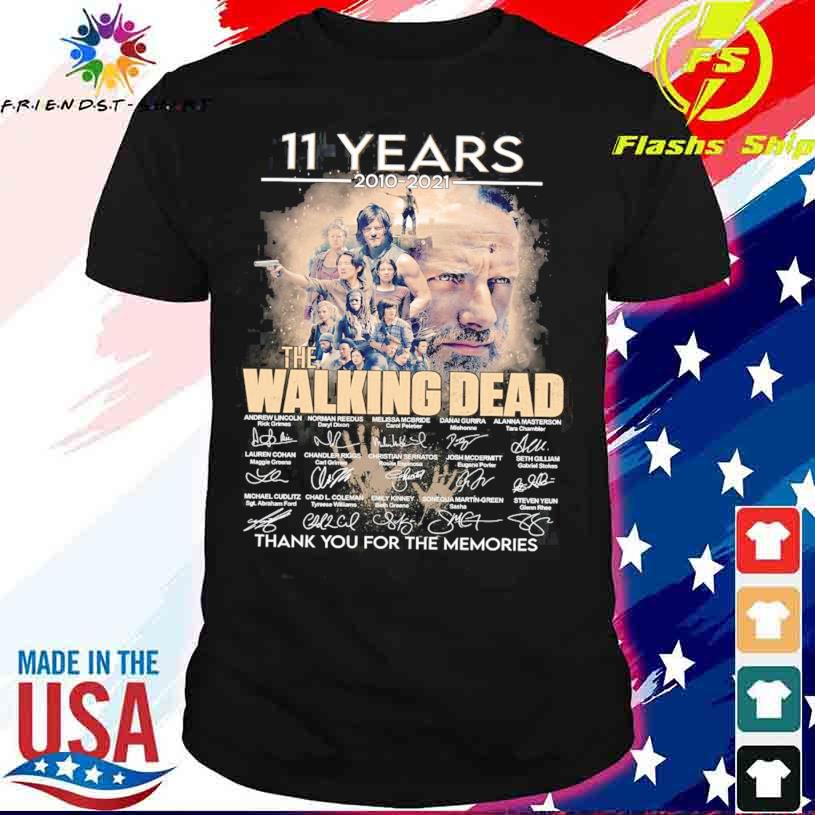 11 Years 2010 2021 the Walking Dead thank You for the memories signatures shirt